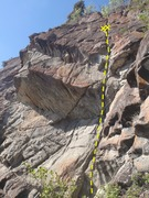 Rock Climbing Photo: Start at a belay anchor left of the gully.