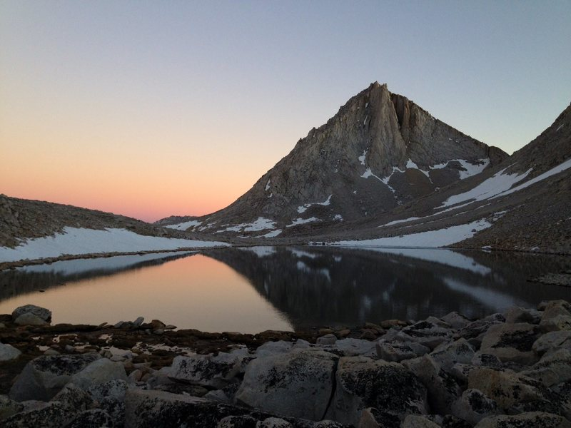 Merriam Peak's North Buttress at sunset