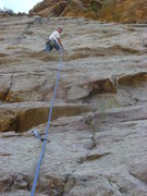 Rock Climbing Photo: Mark cruising.