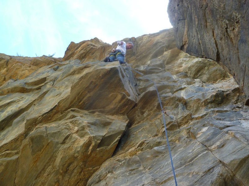 Rock Climbing Photo: Mark starting out.