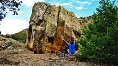 Rock Climbing Photo: Start beta of Real Reptilian.