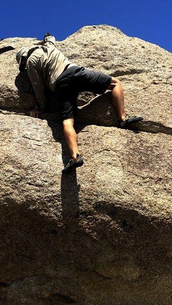 Rock Climbing Photo: Manteling through Night Crawler