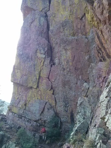 Rock Climbing Photo: looking right at Transmission on the Main Wall - n...