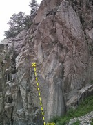 Rock Climbing Photo: West side of southen end of Cracked Canyon.