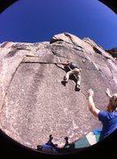 Rock Climbing Photo: Dike/Slab above area B. FA?