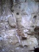 Rock Climbing Photo: Face below crack.