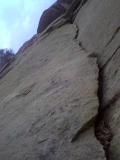 Rock Climbing Photo: Great flake.