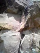 Rock Climbing Photo: Crack below Moab-esque crack ledge.