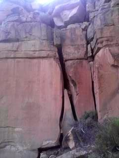 Close-up of lower Moab-esque cracks.