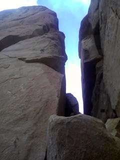 Arête on left side of pillar.
