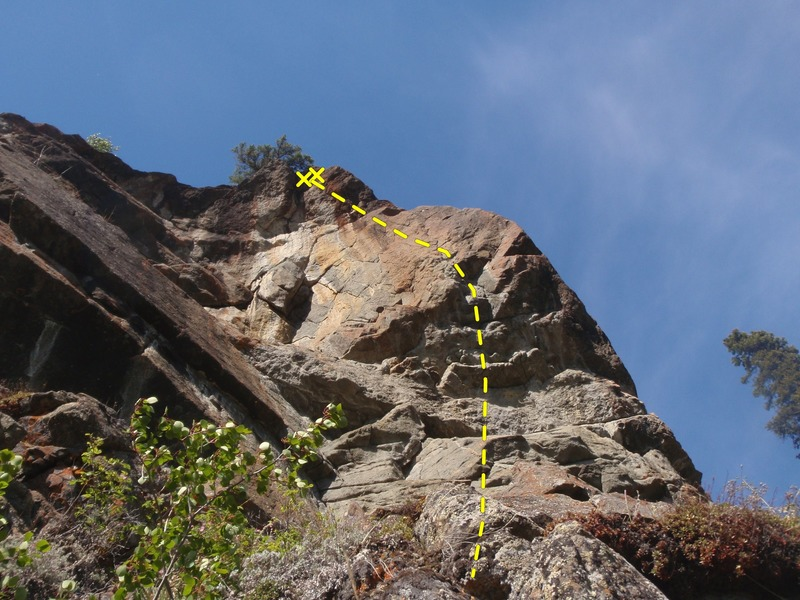Rock Climbing Photo: Stay left after the 4th bolt.