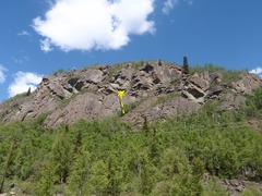 Rock Climbing Photo: Qualifier is the right most climb at the lower wal...