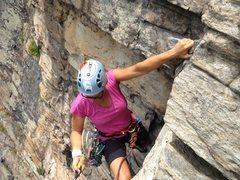 Rock Climbing Photo: finishing the roof
