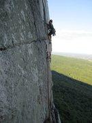 Rock Climbing Photo: starting up the crack