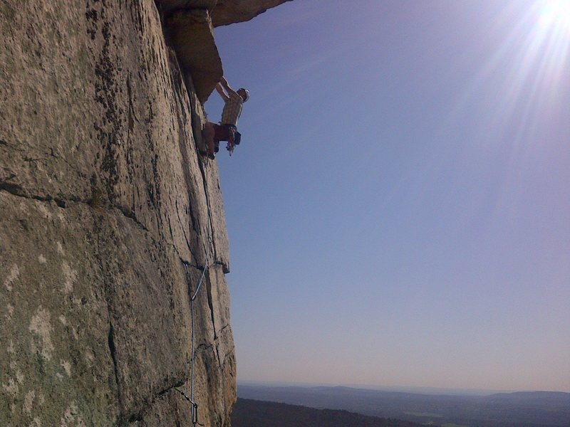 Rock Climbing Photo: Nearing the top