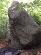 Rock Climbing Photo: Easy right arete.  The start of One Night Sit is v...