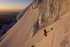 Rock Climbing Photo: Sunrise on the left ice cliff variation