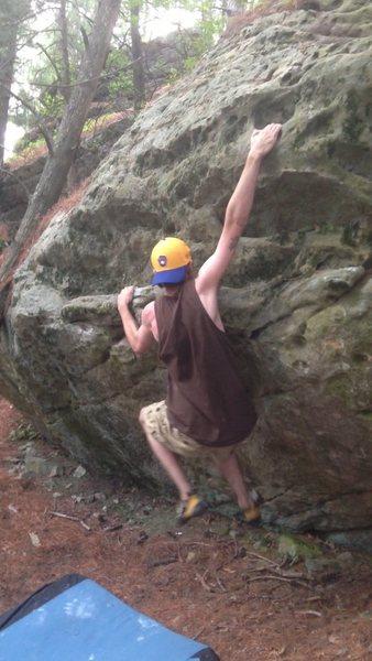 Rock Climbing Photo: Fun warm up downhill from the Jesus boulder start ...