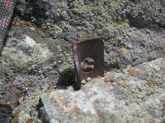 """Rock Climbing Photo: A """"relic"""" from the '92 ascent. It was a ..."""