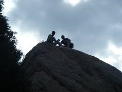 Rock Climbing Photo: 11 July 2014. Ryan and I posing at the top of Whit...
