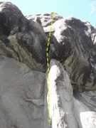 Rock Climbing Photo: Start on the Dihedral and pull the off-width on th...