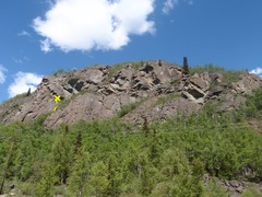 Rock Climbing Photo: Scramble up the gully to reach the start of this r...