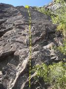 Rock Climbing Photo: Enjoy this fun slab climb up the gully.