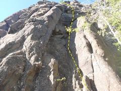 Rock Climbing Photo: Climb the right dihedral on ok rock.