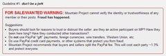 Rock Climbing Photo: new seller warning