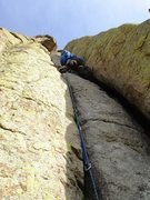 Rock Climbing Photo: Durrance crack