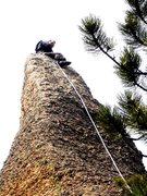 Rock Climbing Photo: Tim on Tent Peg
