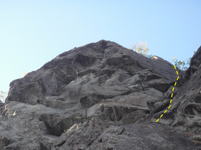 Rock Climbing Photo: Wide starts from the ledge system half way up the ...