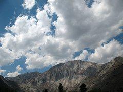 Rock Climbing Photo: Clouds over Laurel Mountain, Sierra Eastside