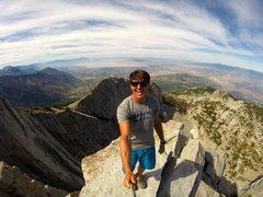 Rock Climbing Photo: Marshall  Miller, Lone Peak summit, July, 2014.