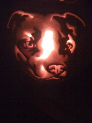 Rock Climbing Photo: Halloween pumpkin I carved with a dremel a few yea...