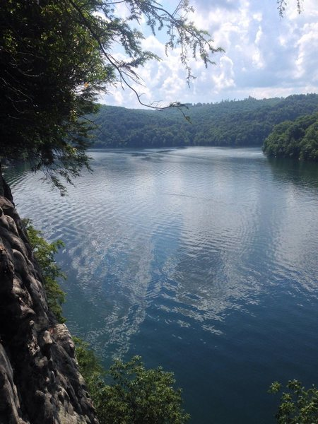 Rock Climbing Photo: View of Summersville Lake from the top of Orange O...