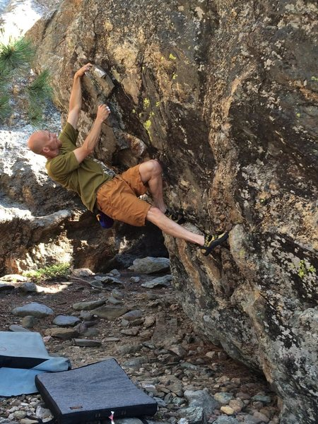 "Rock Climbing Photo: Old baldy, Ray Weber, bouldering at ""Mt. Bald..."