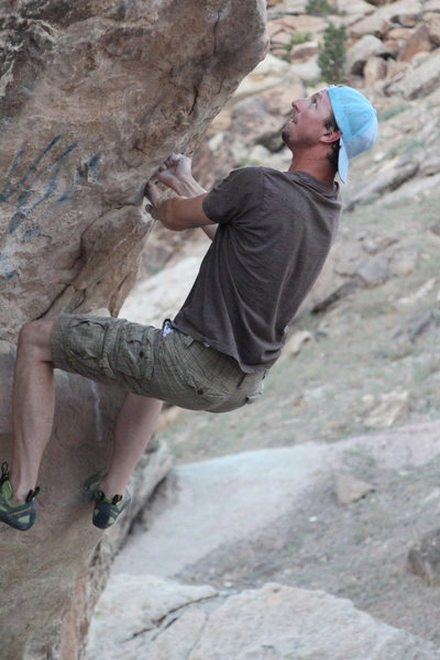 Rock Climbing Photo: Luke Waters setting his hands for that big ol' rea...