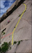 Rock Climbing Photo: The route from the bottom.