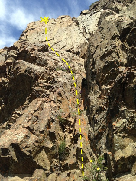 Rock Climbing Photo: Slow Starter