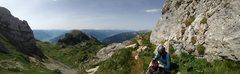 Rock Climbing Photo: Trail at the start of the via ferrata.  Rosskopf i...
