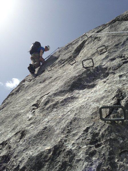 Rock Climbing Photo: Protection on Seekarlspitze.