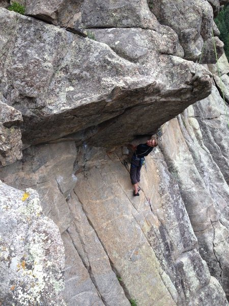 Rock Climbing Photo: The anchors are directly above, making for an easy...