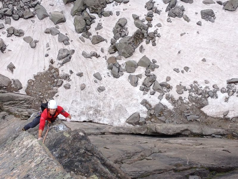 Rock Climbing Photo: The arete on the final 12a pitch.