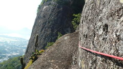 Rock Climbing Photo: The start of the traverse.