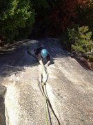 Rock Climbing Photo: Old man placing gear for the second day in his lif...