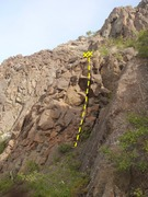 Rock Climbing Photo: This is the Slapback crack as you approach .