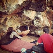 Rock Climbing Photo: Oz, first tier.  Unknown V7