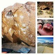Rock Climbing Photo: Bishop Collage; Slap Happy Boulder, Son of Claudiu...