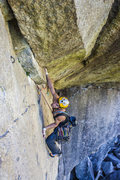 Rock Climbing Photo: traverse - 3 bolts at the end....